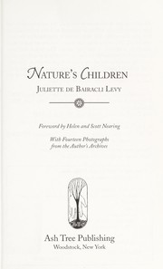 Cover of: Nature's children