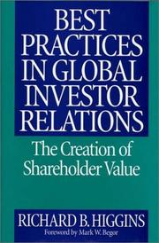 Cover of: Best Practices in Global Investor Relations | Richard B. Higgins