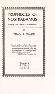 Cover of: Oracles of Nostradamus | Charles A. Ward