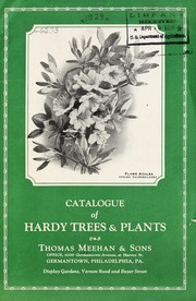 Cover of: Catalogue of hardy trees & plants | Thomas Meehan and Sons