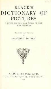 Cover of: Black's dictionary of pictures