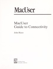 Cover of: MacUser guide to connectivity