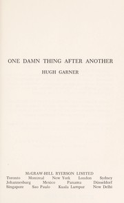 Cover of: One damn thing after another. | Hugh Garner