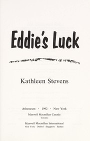 Cover of: Eddie's luck | Kathleen Stevens