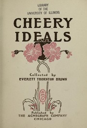 Cover of: Cheery ideals ...