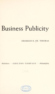 Cover of: How to get industrial and business publicity. | St. Thomas, Charles E.