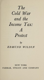 Cover of: The cold war and the income tax
