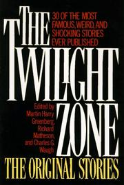 Cover of: The Twilight Zone the Original Stories |