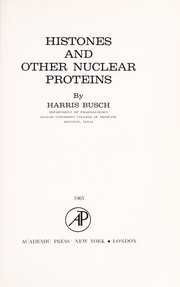 Cover of: Histones and other nuclear proteins