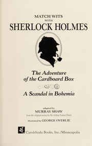 "Cover of: Match Wits With Sherlock Holmes: The Adventure of Black Peter: The ""Gloria Scott"" (Match Wits with Sherlock Holmes)"