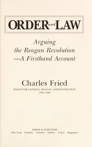 Cover of: Order and law