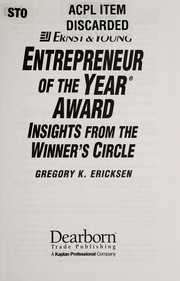Cover of: The Ernst & Young Entrepreneur of the Year Award insights from the Winner