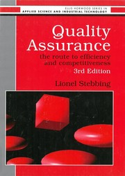 Cover of: Quality assurance | Lionel Stebbing