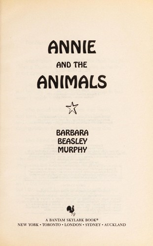 Annie and the animals by Murphy, Barbara