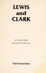 Cover of: Lewis and Clark | Francene Sabin