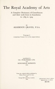 Cover of: The Royal Academy of Art | Algernon Graves