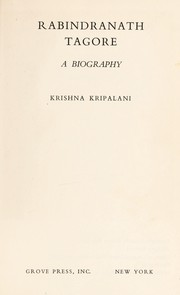 Cover of: Rabindranath Tagore: a biography
