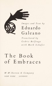 Cover of: The book of embraces