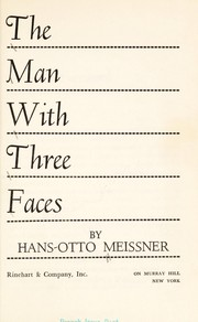 Cover of: The man with three faces