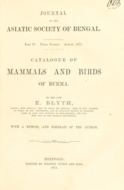 Cover of: Catalogue of mammals and birds of Burma