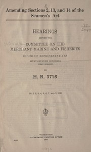 Cover of: Amending sections 2, 13 and 14 of the Seamen