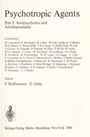 Cover of: Psychotropic Agents Part I