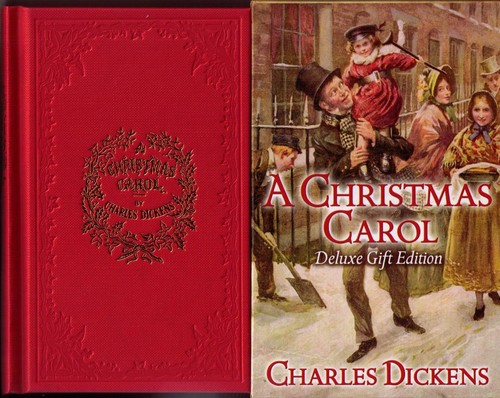 A Christmas Carol by by Charles Dickens, with four Illustrations in Colour and four Woodcuts by John Leech