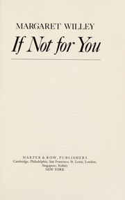 Cover of: If not for you