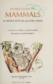 Cover of: World guide to mammals