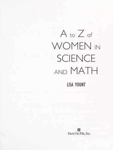 A to Z of women in science and math by Lisa Yount