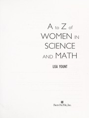 Cover of: A to Z of women in science and math | Lisa Yount