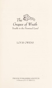 Cover of: The grapes of wrath : trouble in the promised land |
