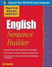 Cover of: English sentence builder | Edward Swick