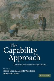 Cover of: The capability approach: concepts, measures and applications by