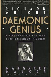 Cover of: Richard Wright, daemonic genius