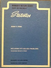 Cover of: Schaum's outline of theory and problems of statistics in SI units