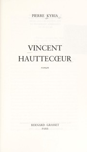 Cover of: Vincent Hauttecoeur