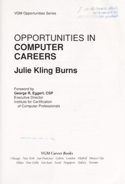 Cover of: Opportunities in computer careers | Julie Kling Burns