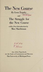 Cover of: The new course