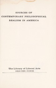 Cover of: Sources of contemporary philosophical realism in America