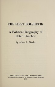 Cover of: The first Bolshevik
