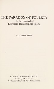 Cover of: The paradox of poverty : a reappraisal of economic development policy |