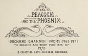Cover of: The peacock and the phoenix : poems, 1963-1971 : designs and text, 1970-1975 |