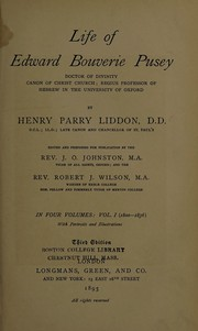 Cover of: Life of Edward Bouverie Pusey | H. P. Liddon