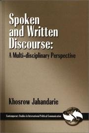 Cover of: Spoken and written discourse