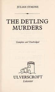 Cover of: The Detling murders