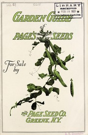 Cover of: Garden guide of Page