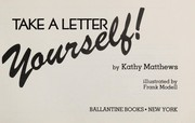 Cover of: Take a letter yourself!