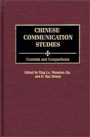 Cover of: Chinese communication studies |