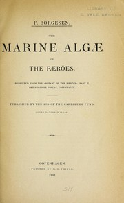 Cover of: Marine algae of the Faeröes